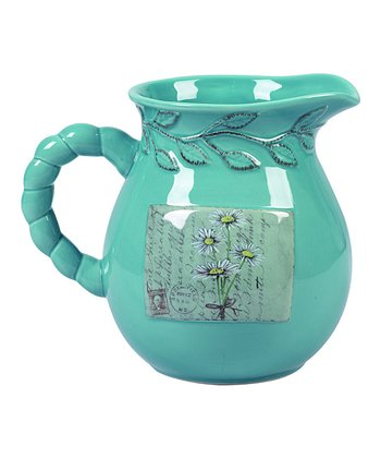 Teal Spring Pitcher