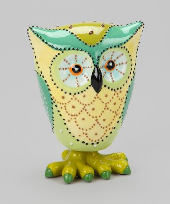 Green Small Owl Figurine