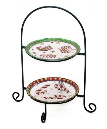 Fused Glass Holiday Plate Stand