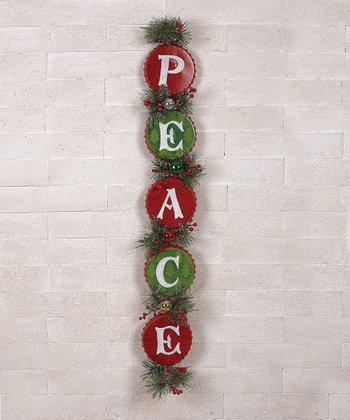 'Peace' Bottle Cap Garland