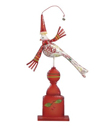 White Festive Bird Figurine
