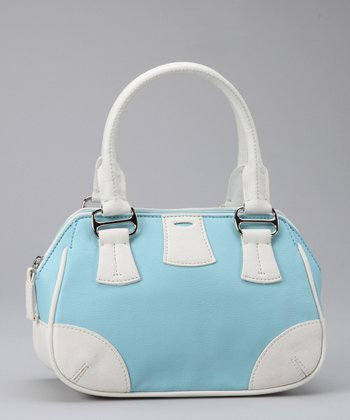 Baby Blue Bowler Handbag - Girls
