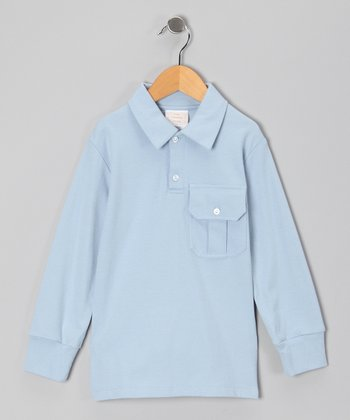 Blue Long-Sleeve Polo - Infant, Toddler & Boys