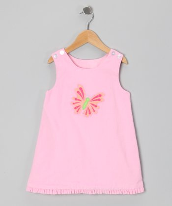 Pink Butterfly Jumper - Infant, Toddler & Girls