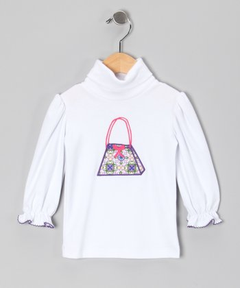 White Purse Turtleneck - Infant & Girls