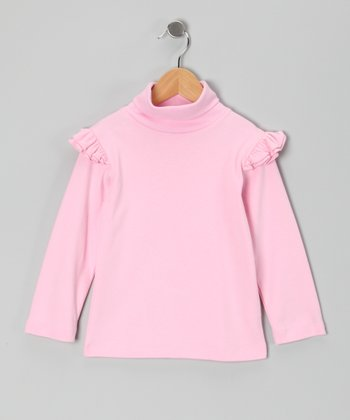 Pink Ruffle Turtleneck - Infant, Toddler & Girls