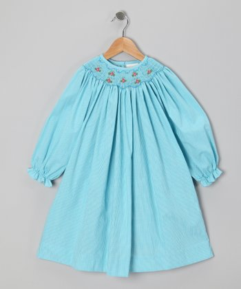 Blue Bee Smocked Bishop Dress - Toddler & Girls