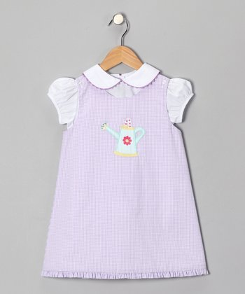 Lavender Watering Can Dress - Toddler