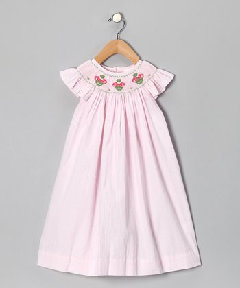 Pink Frog Smocked Dress - Infant, Toddler & Girls