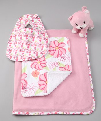 Pink Hula Blanket Set