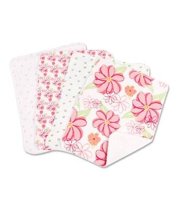 Pink Hula Burp Cloth Set