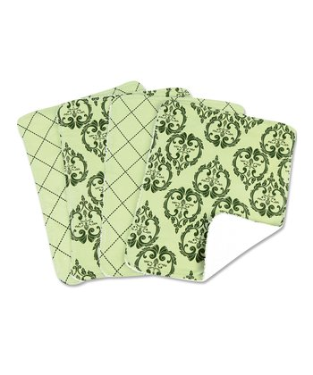 Sage & Black Vintage Burp Cloth Set