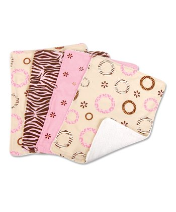 Sweet Safari Burp Cloth Set