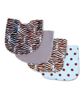 Blue Zebra Bib Set