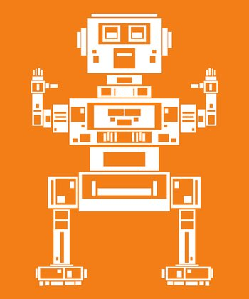 Orange Robot Zane Print