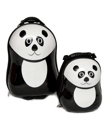Black Pom Panda Backpack & Suitcase