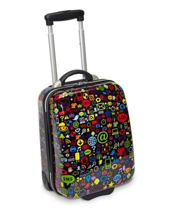 Black Chat Icons Weekender 17'' Carry-On