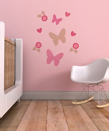Trendy Peas Butterfly Flurry Wall Decal Set