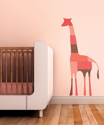 Strawberry Giraffe Puzzle Wall Decal Set