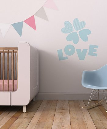 Aqua 'Love' Bundle Wall Decal Set