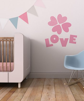 Pink 'Love' Bundle Wall Decal Set