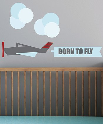 Modern Airplane Wall Decal Set