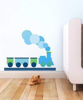 Trendy Peas Modern Train Wall Decal Set
