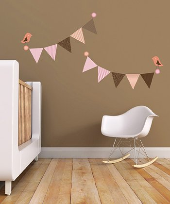 Pennants & Birds Wall Decal Set