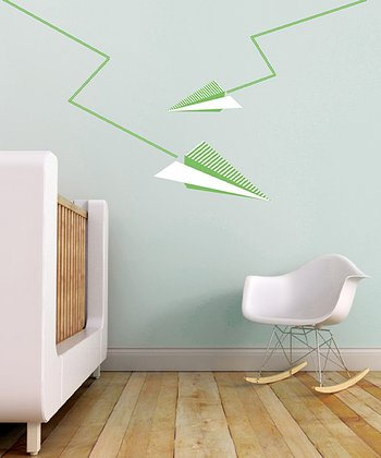 Paper Plane Wall Decal Set | Daily deals for moms, babies and kids