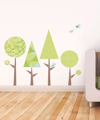 Geo Trees Wall Decal Set