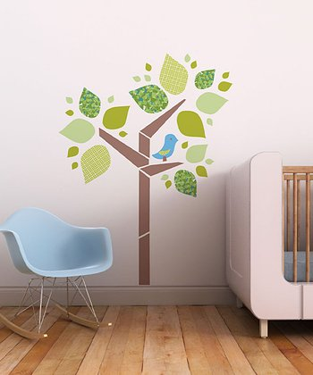 Tree and Birdie Wall Decal Set