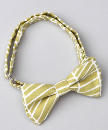 Grass Herringbone Bow Tie