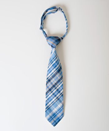 Blue & Khaki Plaid Cody Tie