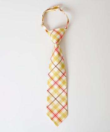 Gold & Red Plaid Conner Tie