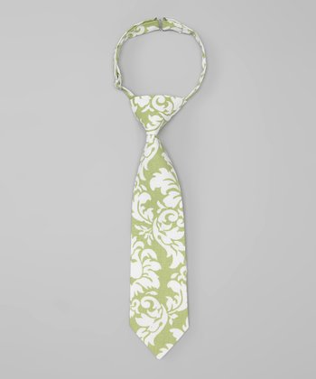 Green Dandy Damask Tie