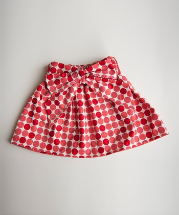 Red Polka Dot Skirt - Infant, Toddler & Girls
