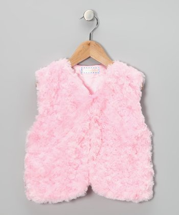 Pink Faux Fur Vest - Toddler & Girls