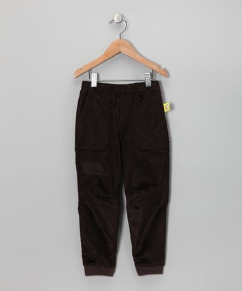 Dark Brown Corduroy Pants - Toddler & Kids