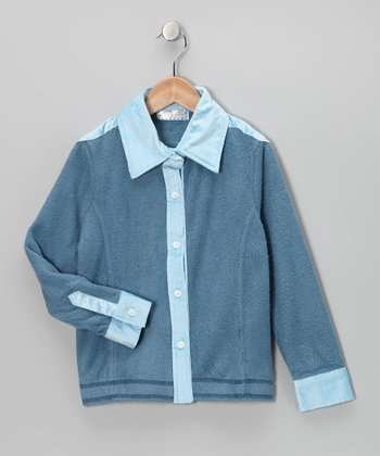 Blue Corduroy Button-Up - Toddler & Boys