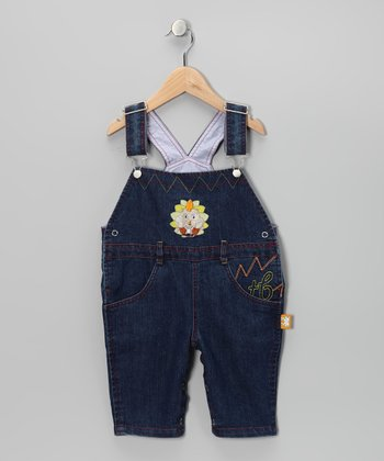 Denim Hedgehog Overalls - Infant