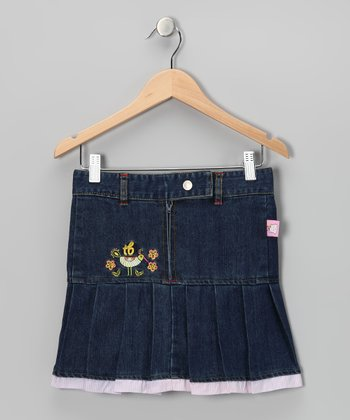 Denim Pleated Skirt - Toddler & Girls