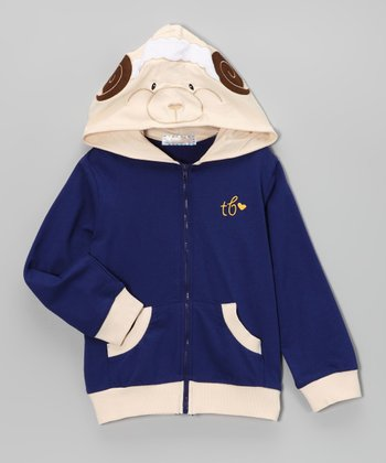 Blue Sheep Zip-Up Hoodie - Toddler & Boys