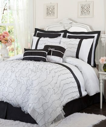 White Romana King Comforter Set