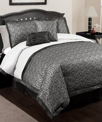 Black Leopard Comforter Set