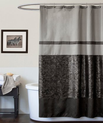 Black Croc Shower Curtain