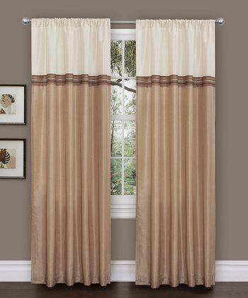 Beige Terra Curtain Panel - Set of Two