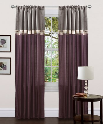 Purple Terra Curtain Panel - Set of Two