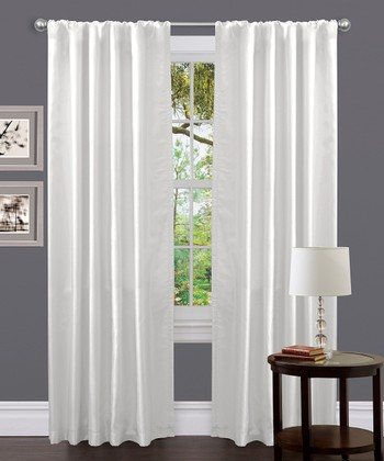 White Venetian Curtain Panel
