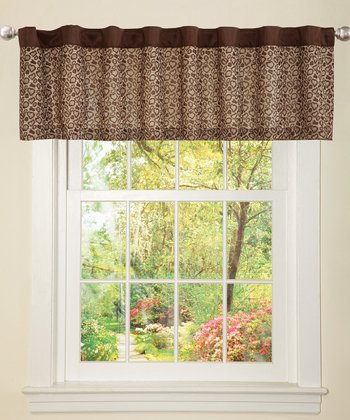 Brown Leopard Valance