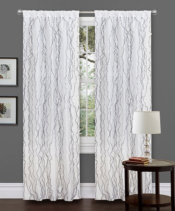 White Romana Curtain Panel
